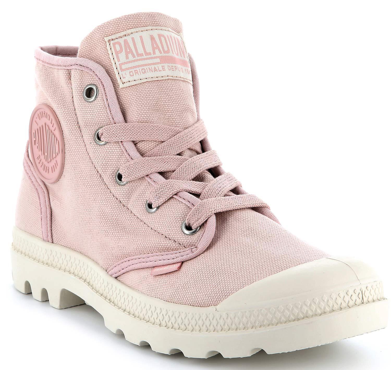 Palladium Us Pampa Damen Stiefel Boots Freizeitschuhe 92352-621-m Rosa Neu