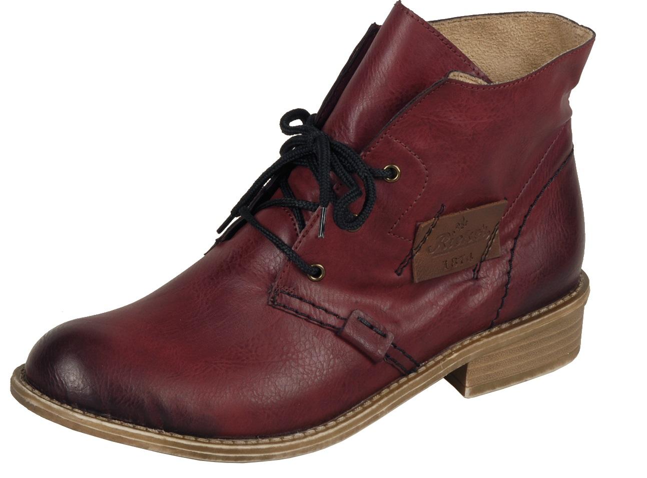 rieker stiefel winterstiefel boots rot leder neu 72740 35 samtvelour futter neu ebay. Black Bedroom Furniture Sets. Home Design Ideas