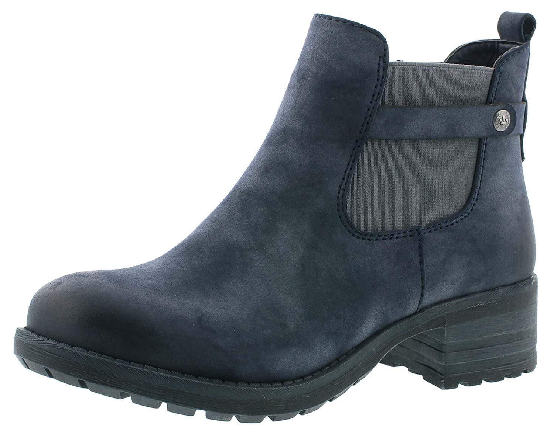 71496792052d9e Rieker Damen Winterschuhe Stiefeletten Chelsea Boots 96864-14 Blau ...