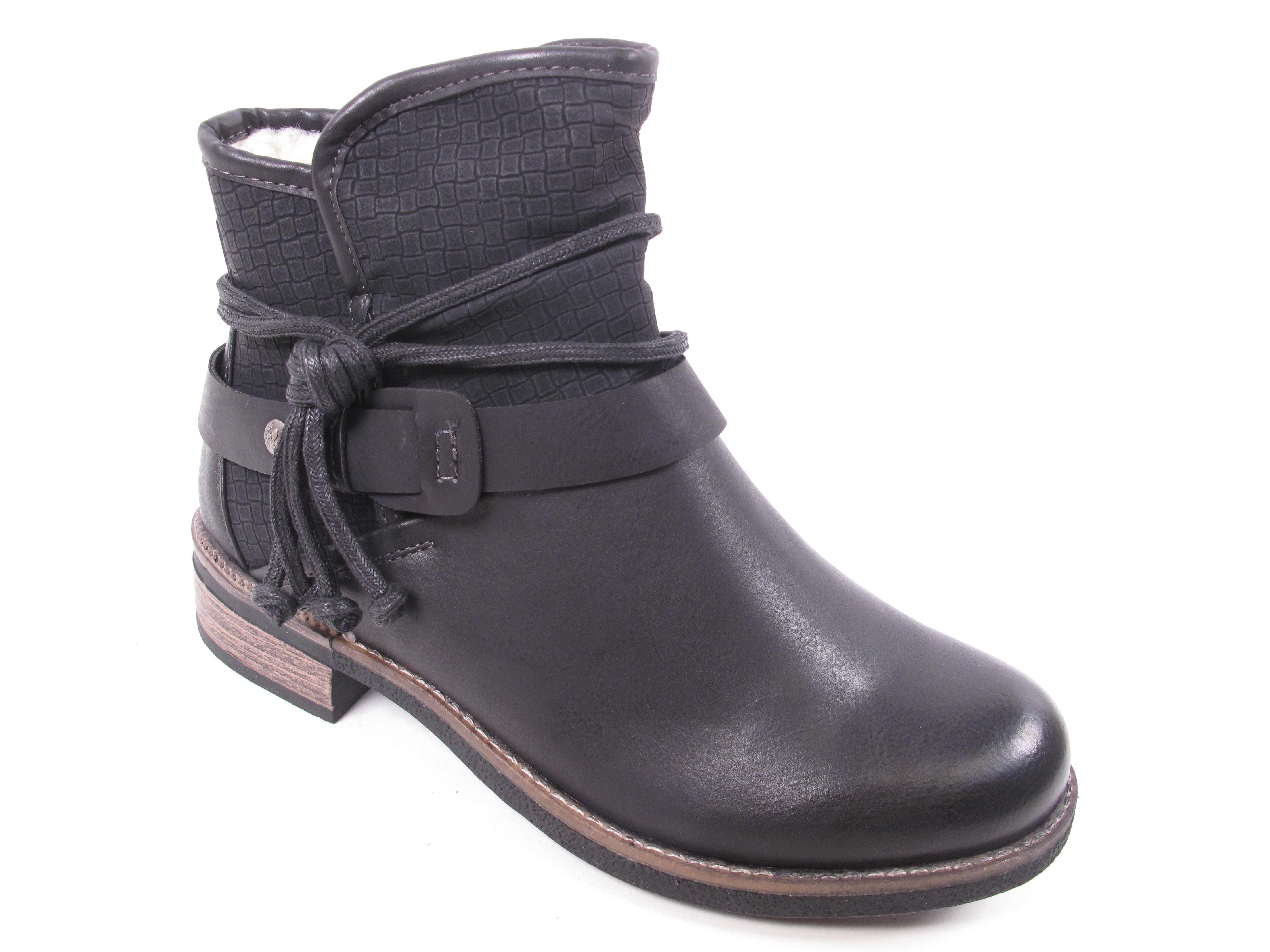 Rieker Damen Stiefel Stiefeletten Boots Winterschuhe 94689-00 Schwarz Neu