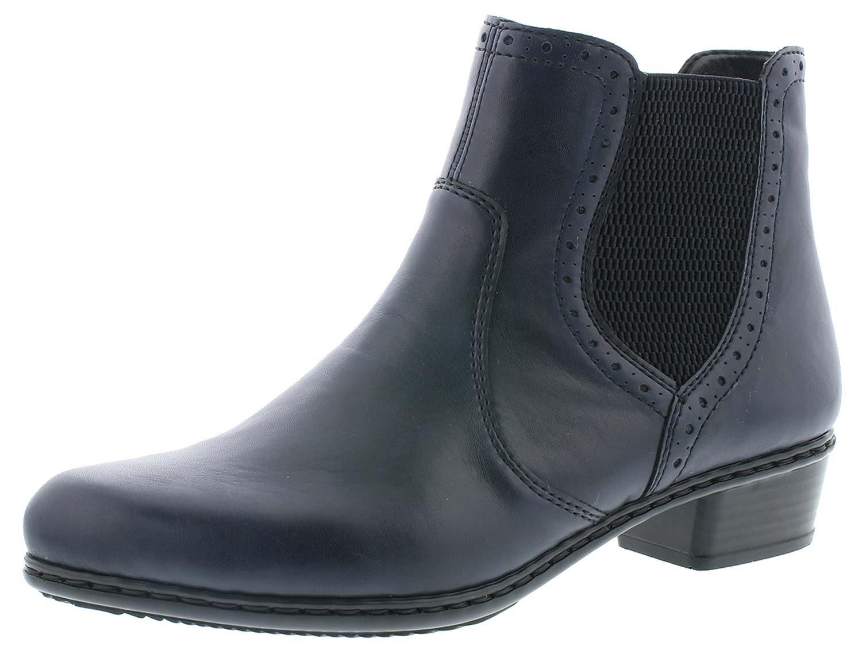 f7de59916e773f Rieker Damen Winterschuhe Stiefeletten Boots Stiefel Y0771-15 Blau ...