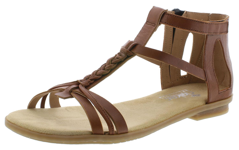 Detalles de Rieker Sandalias Mujer Sandalias Romanas Zapatos de Verano 64225 24 Braun Nuevo