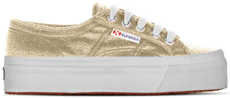 Superga Sneaker Donna Scarpe Da Ginnastica Cotu s009tc0 174 Oro Nuovo