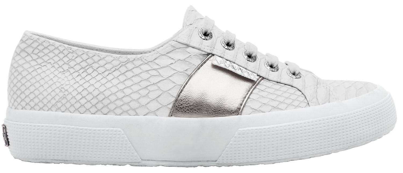 Superga Donna 2750 pusnakew sneakers per il tempo libero Scarpe s00cl10506 Bianco Grigio Nuovo