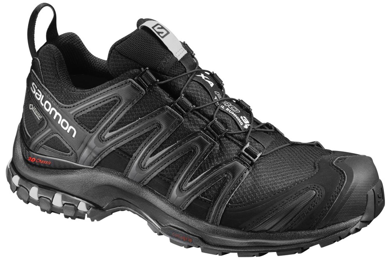 Détails sur Salomon Xa Pro 3D Femmes Chaussures de Trekking Marche 393329 Noir Neuf