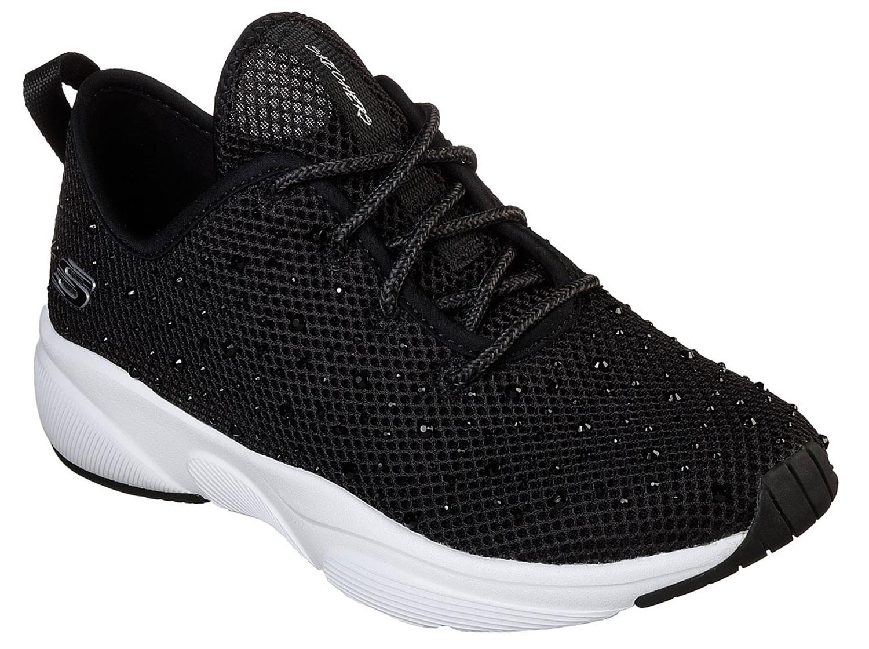 Skechers Damen Sneakers Turnschuhe Freizeitschuhe 13016 Bkw Schwarz Weiß Neu
