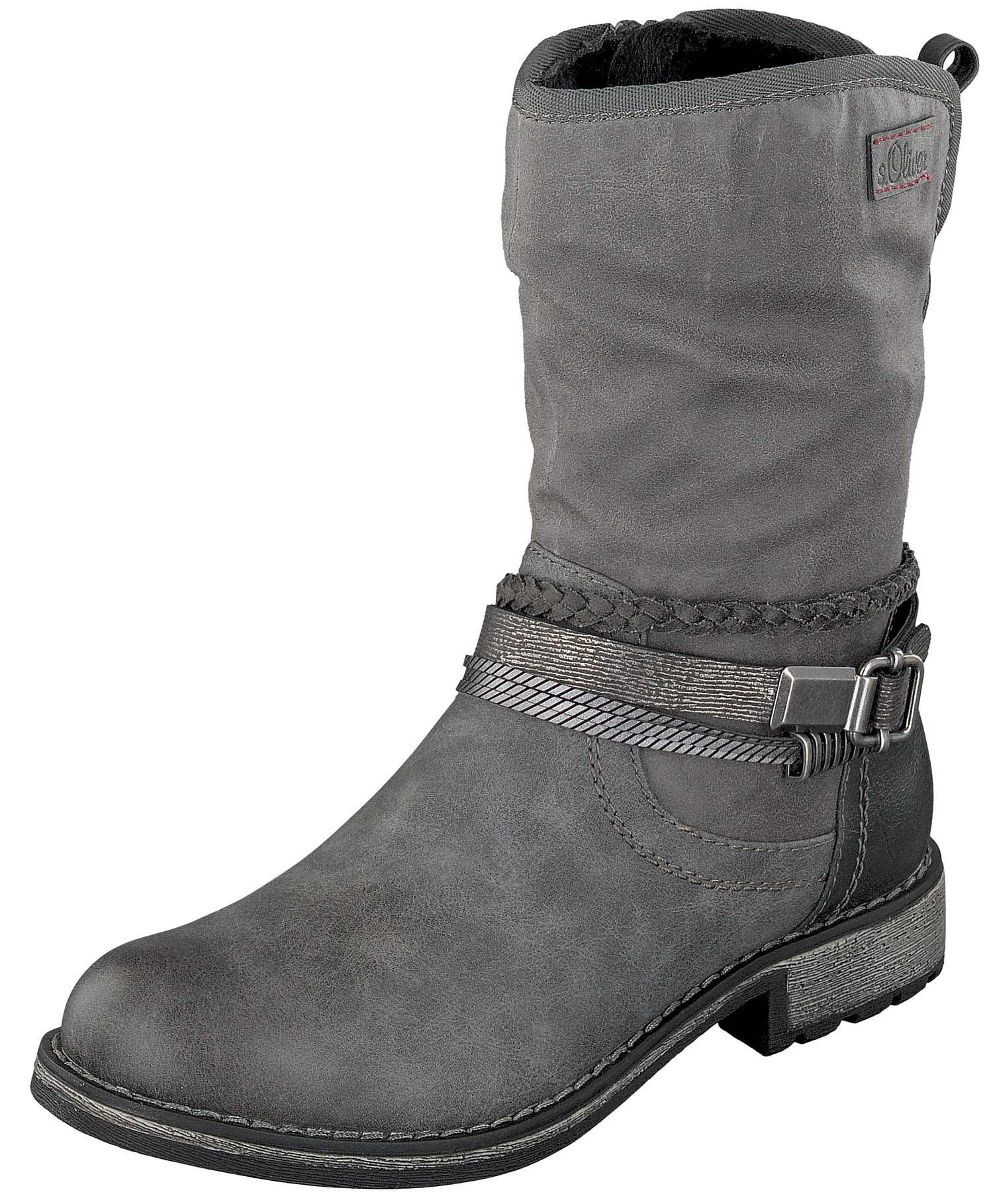 S.oliver Stiefel Stiefeletten Stiefel Damenschuhe 25462-37 216 Grau Neu