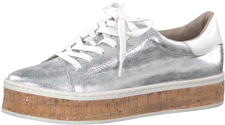 hot sale online 9388c 7c57a Details zu S.oliver Damen Sneaker Plateau-sneaker Plateauschuhe  5-5-23626-20/941 Silber Neu