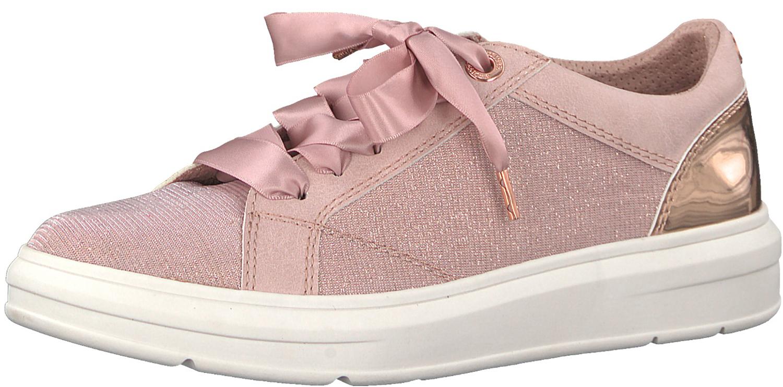 S.Oliver Damen Sneaker Schnürschuhe Low-Top 5-5-23617-20 592 Rosa Metallic  Neu 8aa87b1060