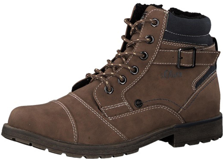 check out e6660 b7c43 Details zu S.oliver Herren Stiefeletten Stiefel Boots 16209-21/305 Braun Neu