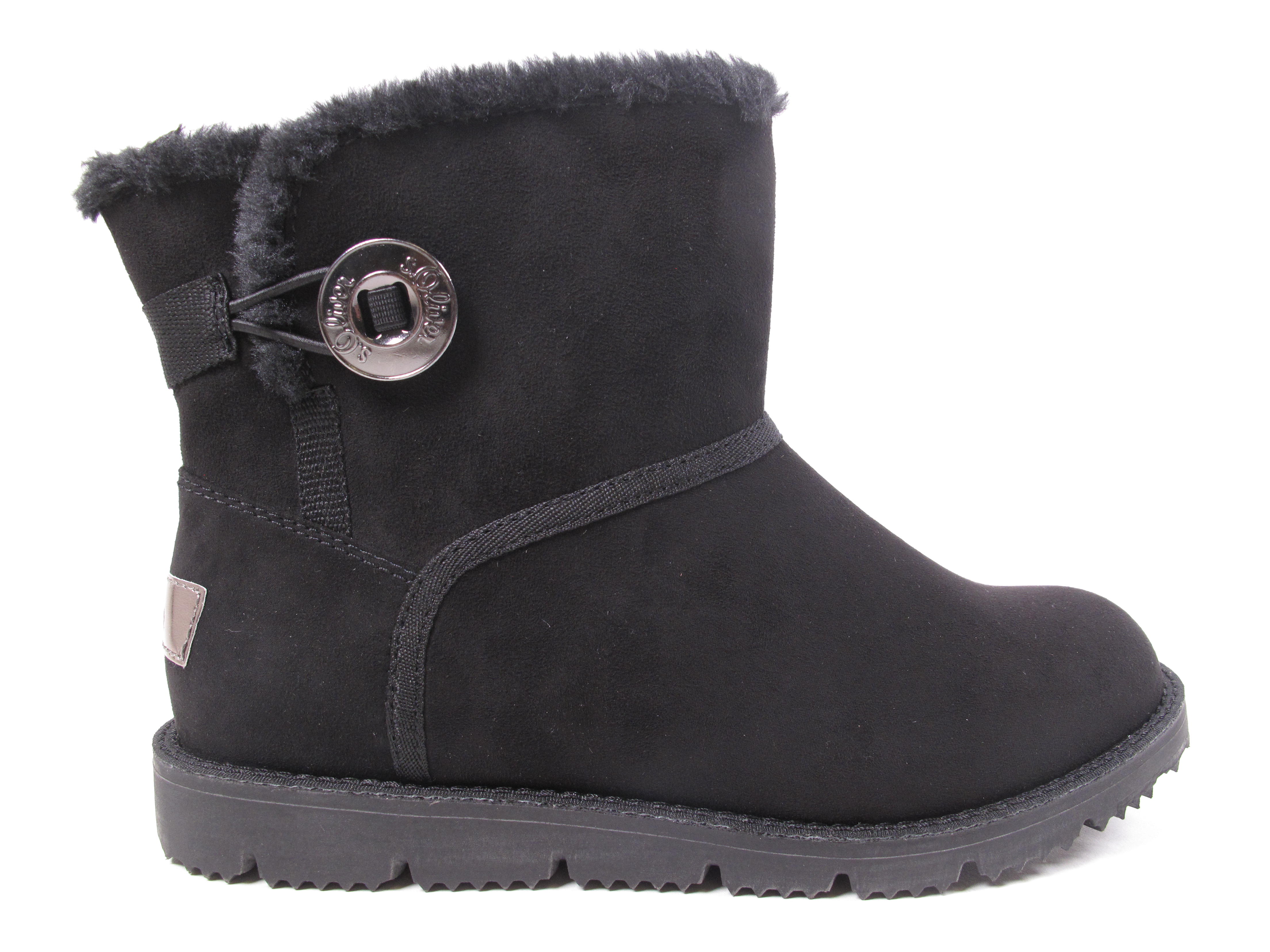 S.OLIVER women Bottines Bottes shoes D'Hiver 26412-21 001 black Neuf