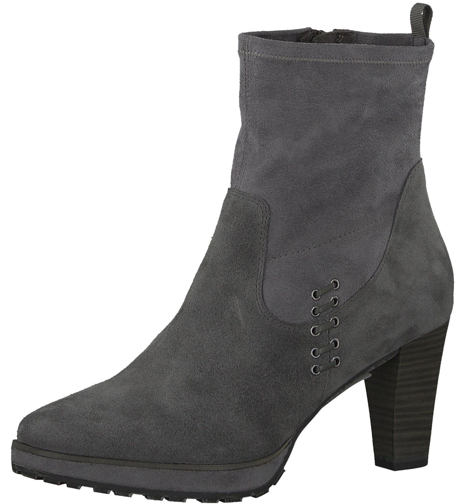 e0c94298c5fdc6 Tamaris Vicky Damen Stiefeletten Stiefel Boots 25319-29 206 Grau Neu ...