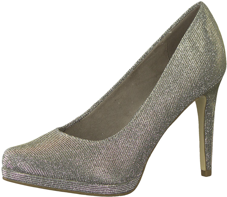 quality design 4b03c e1a7a Details zu Tamaris Damen Pumps Stöckelschuhe Highheel Stiletto 22496 20 970  Silber/gold Neu