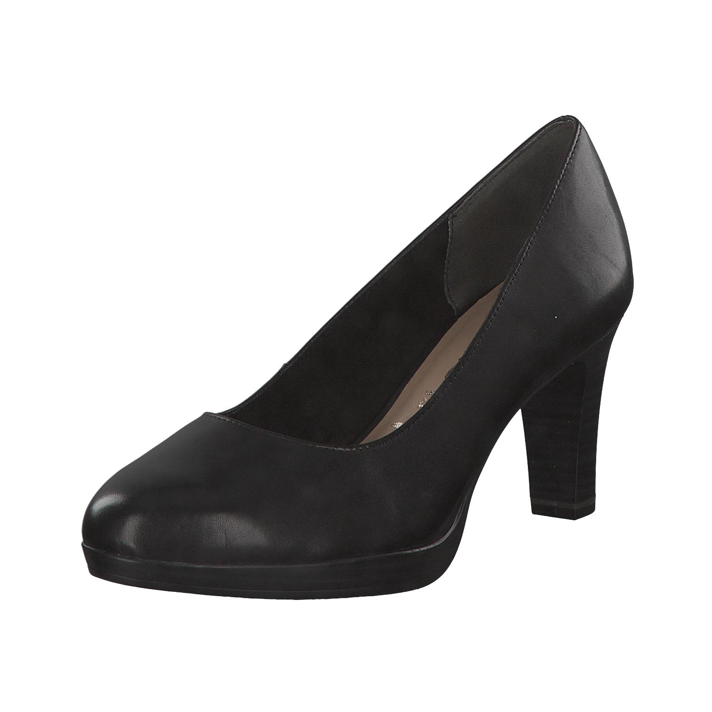 Tamaris Platform Pumps black imitation leather