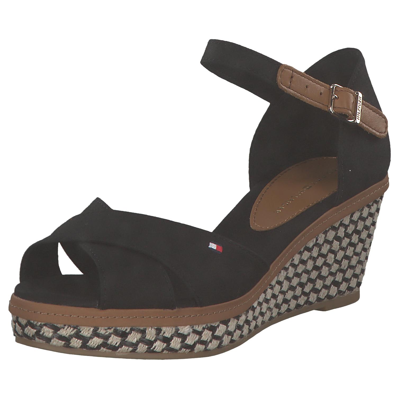 Tommy Hilfiger elba iconic sandalia keilsandaletten señora sandalias negro nuevo