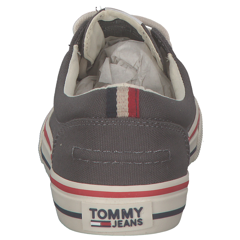 Tommy Hilfiger Hilfiger Tommy Herren Sneakers Turnschuhe Niedrig-top Niedrig Schnürer Grau Neu 402501