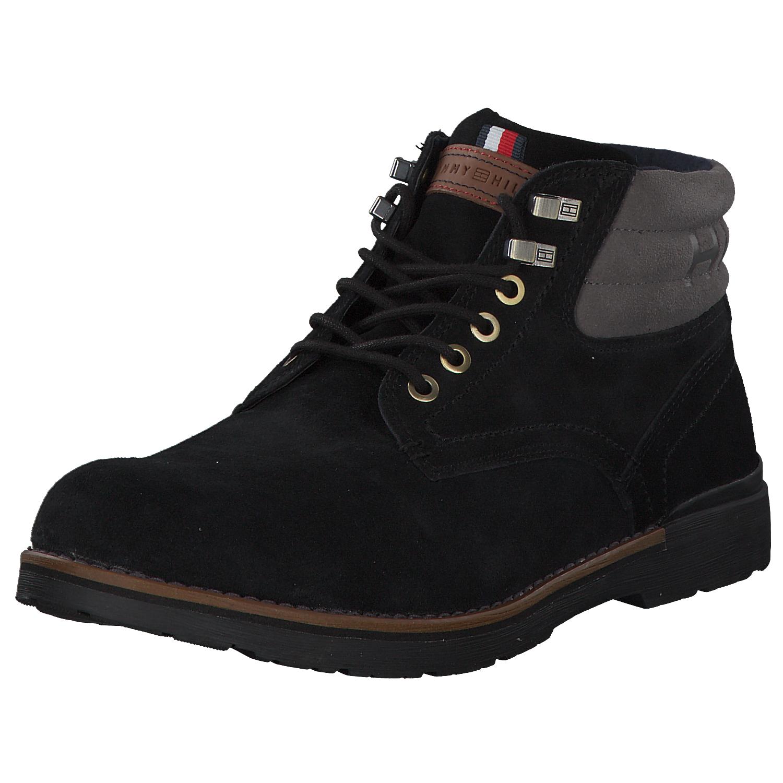 schönes Design Temperament Schuhe geschickte Herstellung Details zu Tommy Hilfiger Herren Stiefel Stiefeletten Boots Fm0fm02429-990  Schwarz Neu