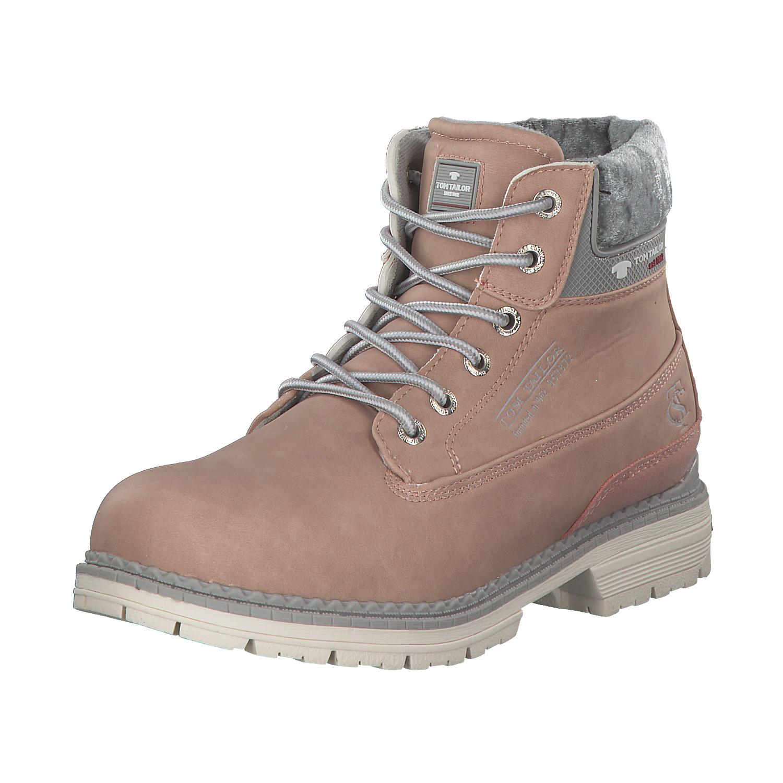 d62ac17e0577df Tom Tailor Damen Stiefel Boots Winterschuhe 3792901 00175 Rosa Rose Grau Neu
