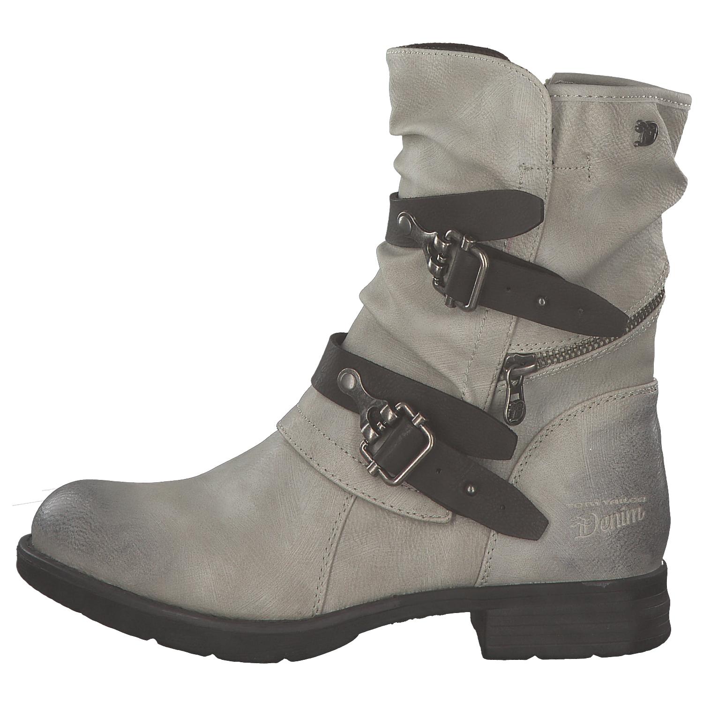 1 von 8Kostenloser Versand Tom Tailor Damen Stiefel Biker Boots  Winterstiefel Stiefeletten Grau Weiß Neu 28173cf5e8