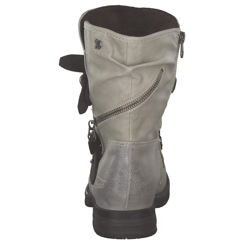 2 von 8 Tom Tailor Damen Stiefel Biker Boots Winterstiefel Stiefeletten  Grau Weiß Neu b7374a91f5