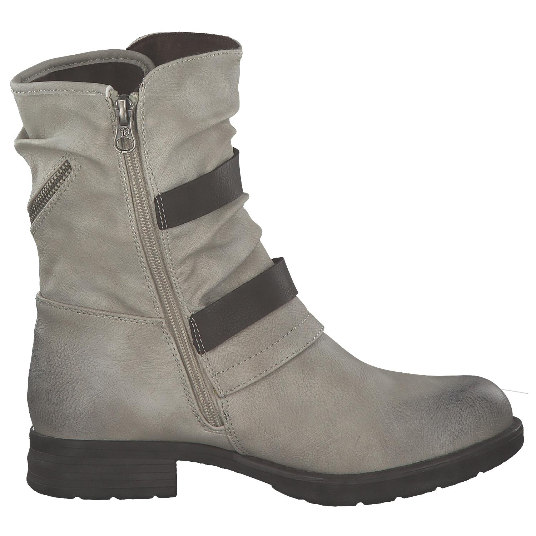 3 von 8 Tom Tailor Damen Stiefel Biker Boots Winterstiefel Stiefeletten  Grau Weiß Neu 52f18133de