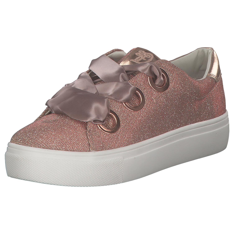 9767e7cd15f0d4 Das Bild wird geladen Tom-Tailor-Damen-Sneakers -Plateausneakers-Plateauschuhe-Rosa-Glitzer-