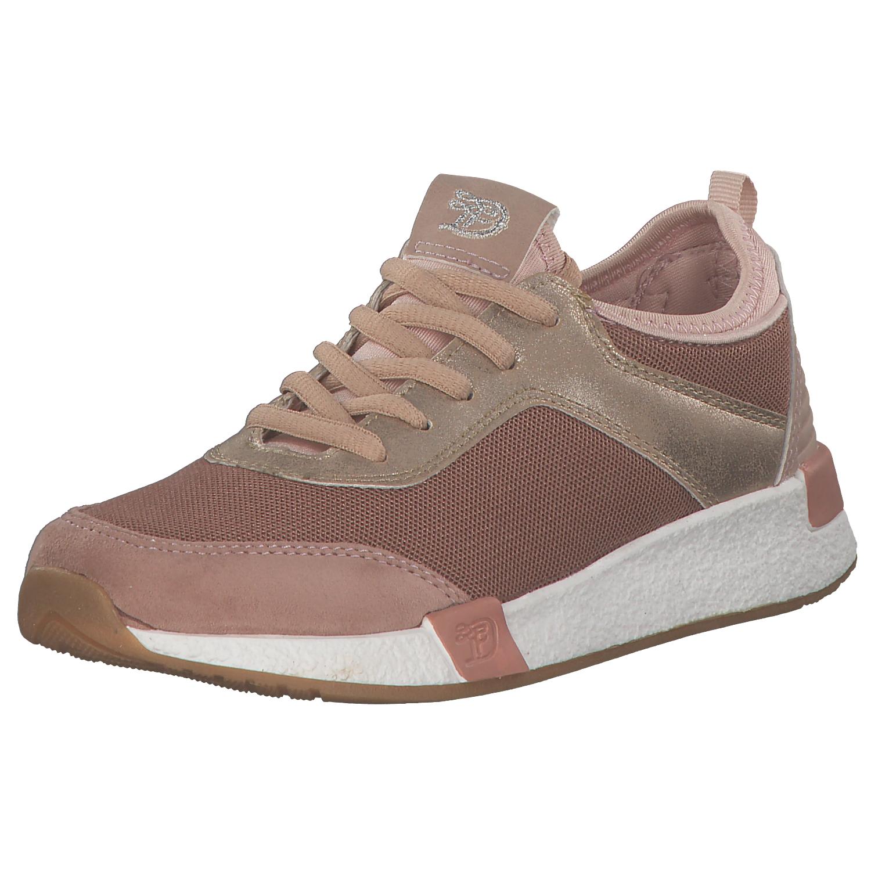 best website 57894 8f9f2 TOM TAILOR DAMEN Sneakers Damen Low-top Niedrig Schnürschuhe 4899104 Rosa  Neu