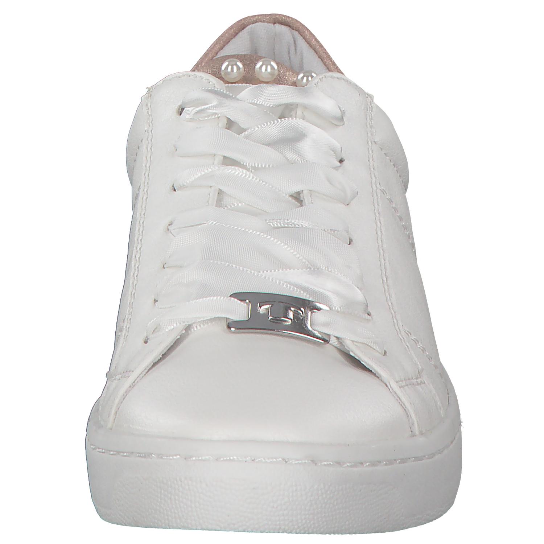 Tom-Tailor-Damen-Sneakers-Turnschuhe-Low-top-Schnuerschuhe-4892606-Weiss-Neu