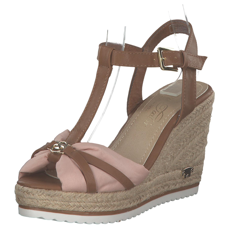 the best attitude 1265c 5c708 Tom Tailor Damen Keilsandaletten Keilpumps Sandaletten Wedges Braun Rosa  Neu | eBay