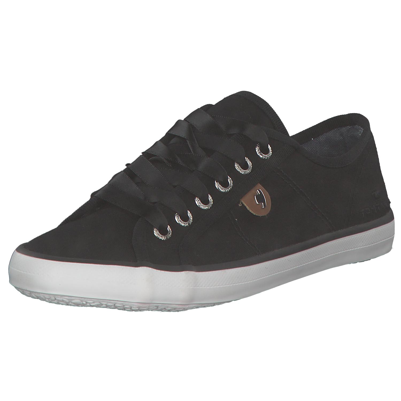 906032b5d36e50 Das Bild wird geladen Tom-Tailor-Damen-Sneakers-Stoffschuhe -Low-top-Niedrige-