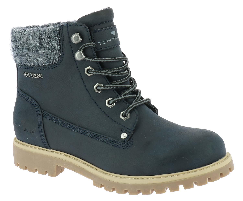 42175e3afe1e0d Tom Tailor Damen Stiefel Boots Winterschuhe 5890105 Blau Braun Neu ...