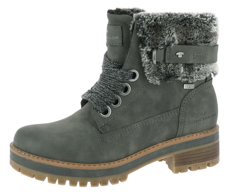 tom tailor damen stiefel boots winterschuhe 5890002 grau. Black Bedroom Furniture Sets. Home Design Ideas