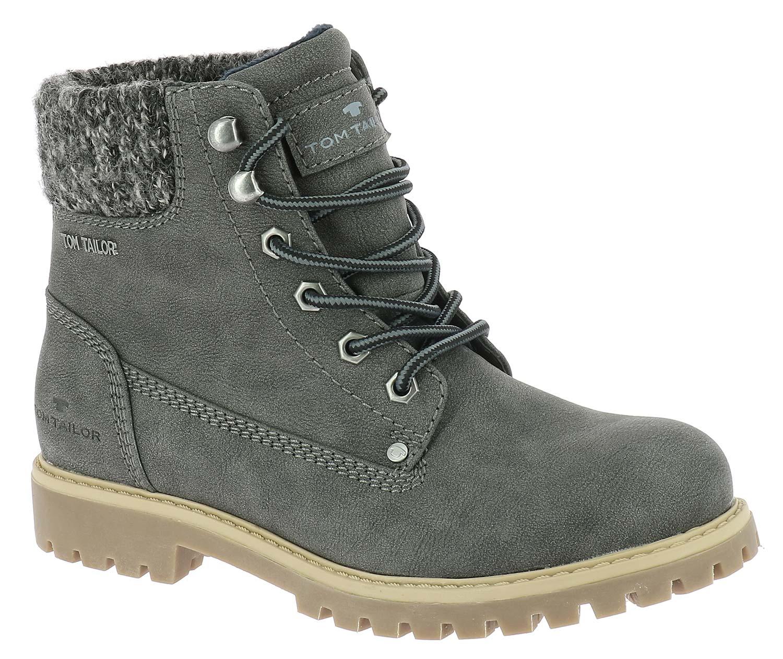 tom tailor damen stiefel boots winterschuhe 5890105 grau. Black Bedroom Furniture Sets. Home Design Ideas