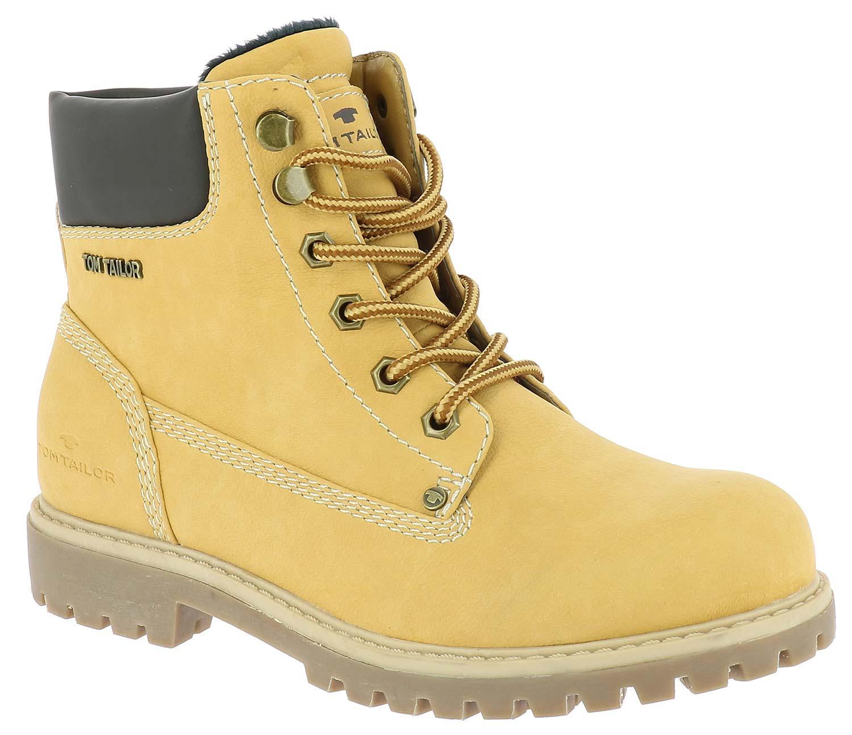 tom tailor damen stiefel boots winterschuhe 5890101 gelb. Black Bedroom Furniture Sets. Home Design Ideas
