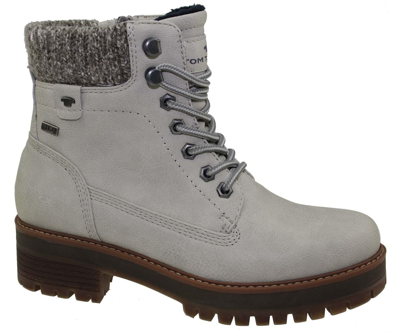 428ee74c2b1299 Tom Tailor Damen Stiefel Boots Winterschuhe 5890001 Grau Braun Neu ...