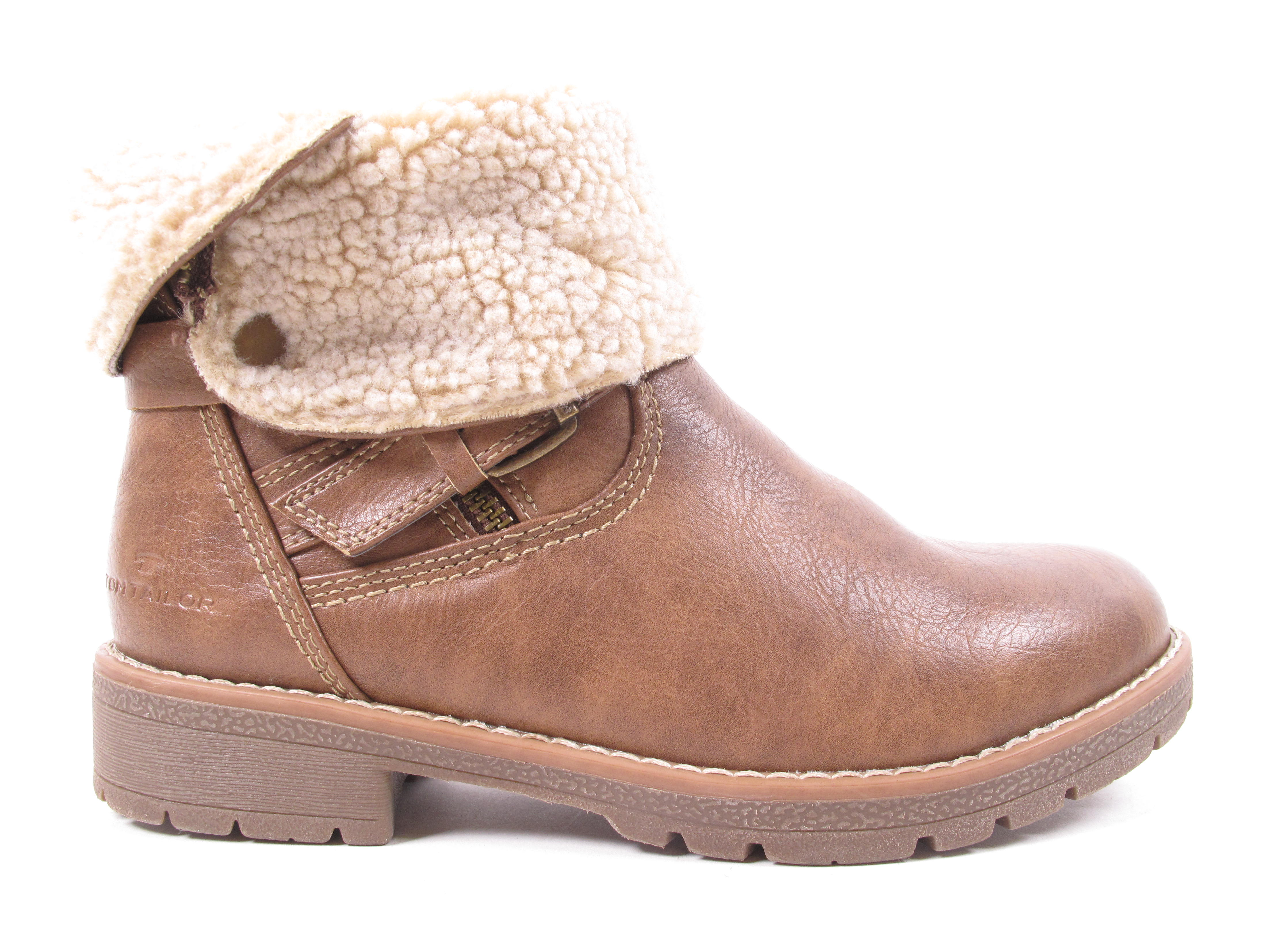 tom tailor damen stiefel boots winterschuhe 5892007 braun. Black Bedroom Furniture Sets. Home Design Ideas