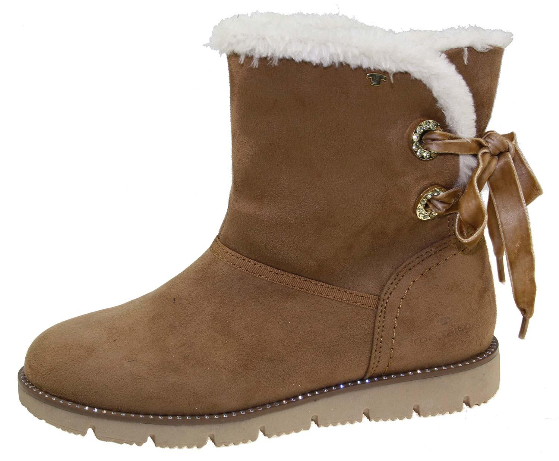 tom tailor damen stiefel boots winterschuhe 5893110 braun. Black Bedroom Furniture Sets. Home Design Ideas