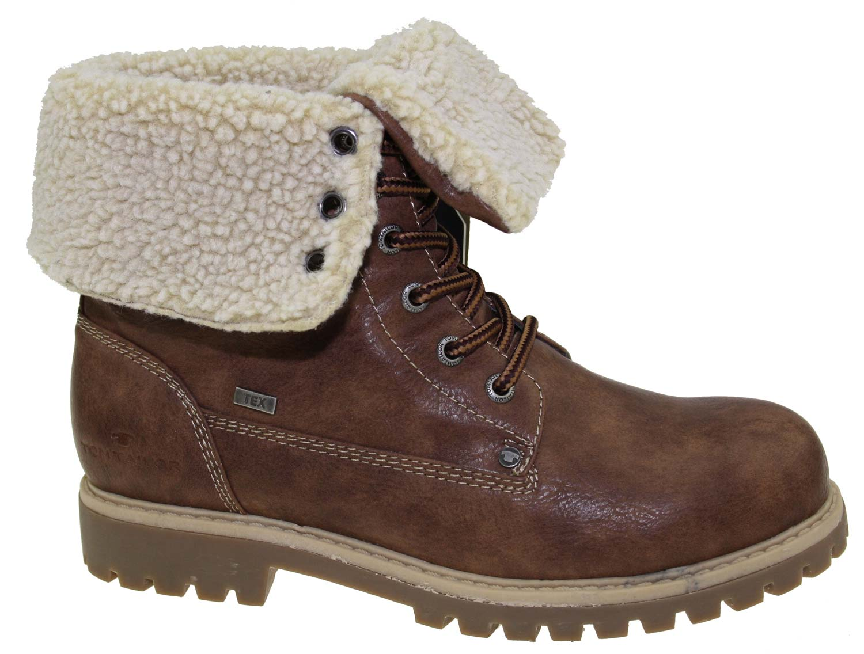 tom tailor damen stiefel boots winterschuhe 5890104 braun. Black Bedroom Furniture Sets. Home Design Ideas