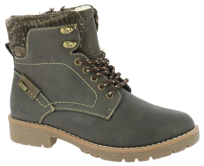 Tom Tailor Damen Stiefel Boots Winterschuhe 5892008 Grau Braun Neu ... 69644a37b7