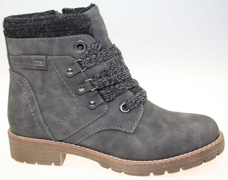 1399a043e5cd0b Tom Tailor Damen Stiefel Boots Winterschuhe 5892003 Grau Weiß Neu
