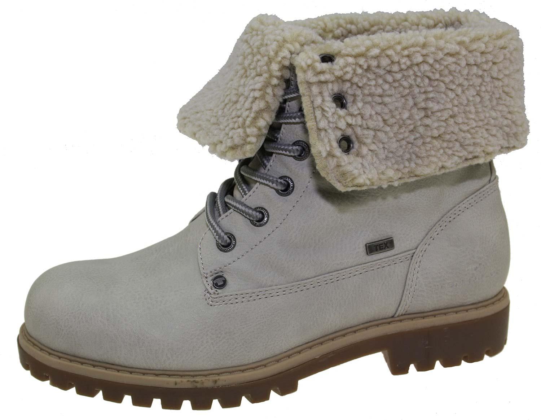 4393dcdbd7af88 Tom Tailor Damen Stiefel Boots Winterschuhe 5890104 Weiß Grau Neu
