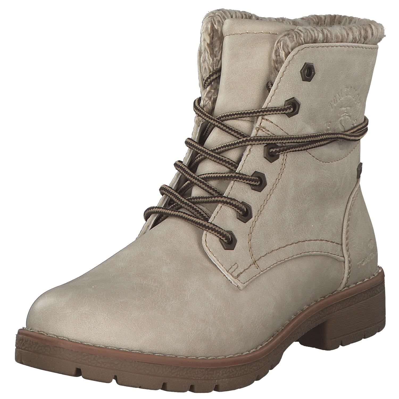 b6aa44a0fc1c4e Tom Tailor Damen Stiefel Stiefeletten Boots Winterstiefel 5892001 Offwhite  Neu
