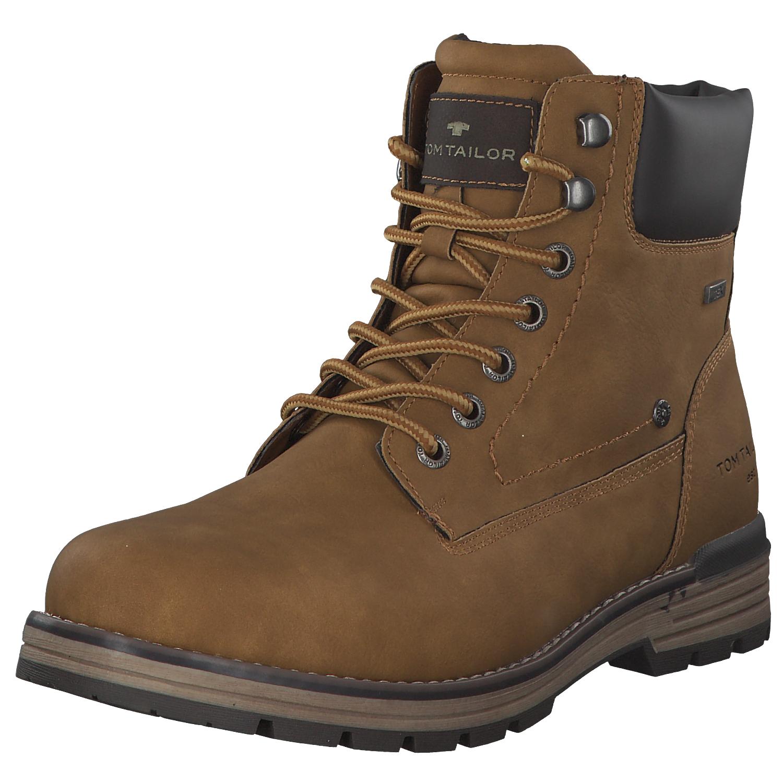 Details zu Tom Tailor Herren Stiefel Stiefeletten Boots 7980501 Braun Camel Neu