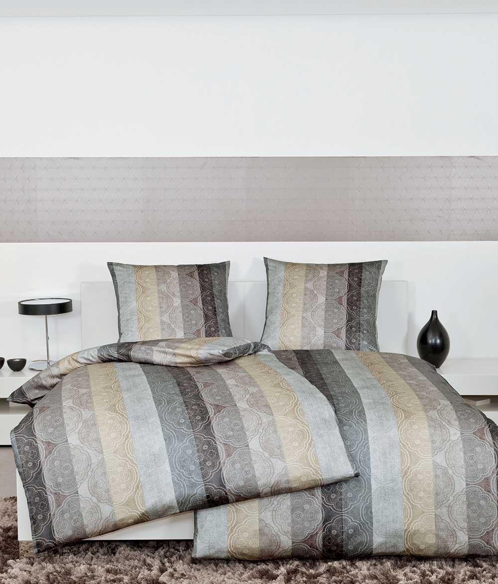janine messina edel mako satin bettw sche garnitur grau 4720 07 ebay. Black Bedroom Furniture Sets. Home Design Ideas