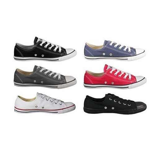 Details zu Converse Damen Chucks Sneaker As Dainty Ox Schwarz Weiß Grau Rot  Slim Light Neu